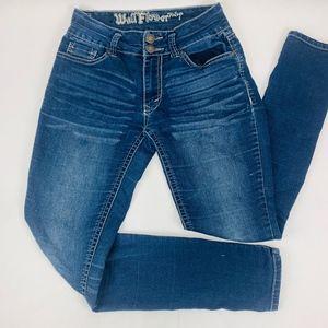 Wallflower Womens Jeans 3 Regular Blue Skinny Fade